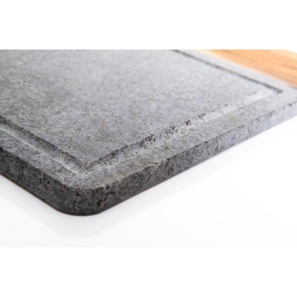 Kamienna deska do krojenia Bambum Zaros, 32x20 cm