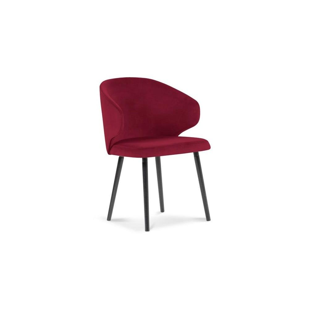 Czerwone krzesło z aksamitnym obiciem Windsor & Co Sofas Nemesis