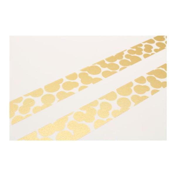 Taśma dekoracyjna washi Gouttes Gold