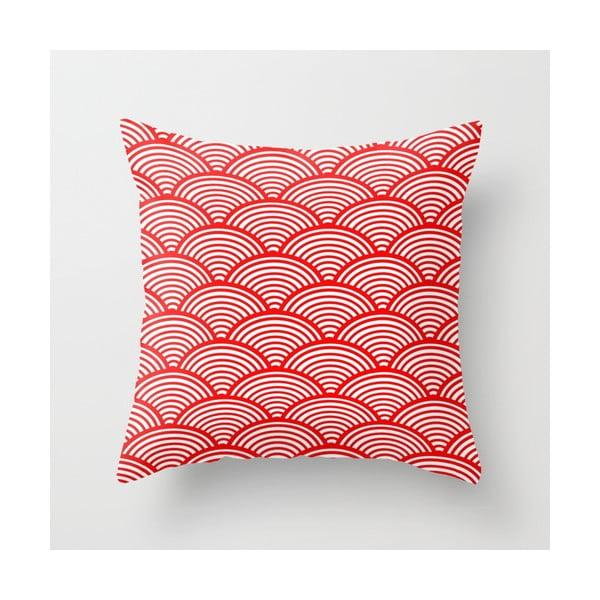 Poszewka na poduszkę Red Waves, 45x45 cm