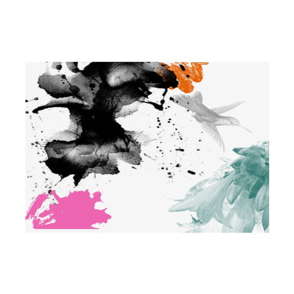 Winylowy dywan Splash con Pájaro, 99x120 cm