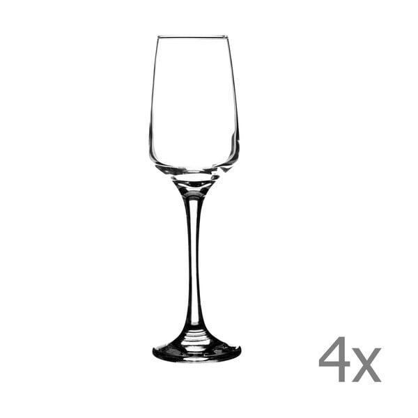 Zestaw   4 kieliszków do szampana Nova, 230 ml