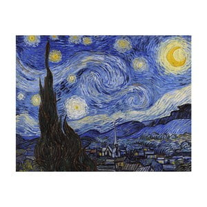 Obraz Vincenta van Gogha - Starry Night, 50x40 cm