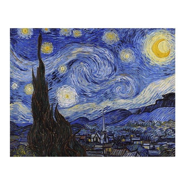 Obraz Vincenta van Gogha - Starry Night, 90x70 cm