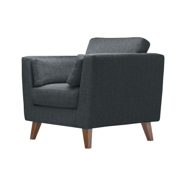 Antracytowy fotel Jalouse Maison Elisa