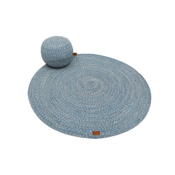 Ciemnoturkusowy okrągły dywan Hawke&Thorn Parker