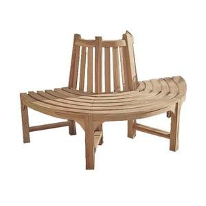 Półokrągła ławka ogrodowa z drewna tekowego ADDU Java