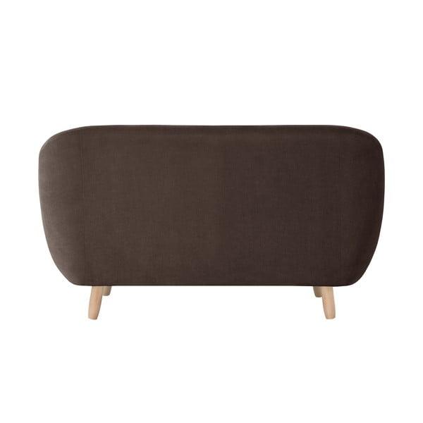Czekoladowa sofa dwuosobowa Jalouse Maison Vicky