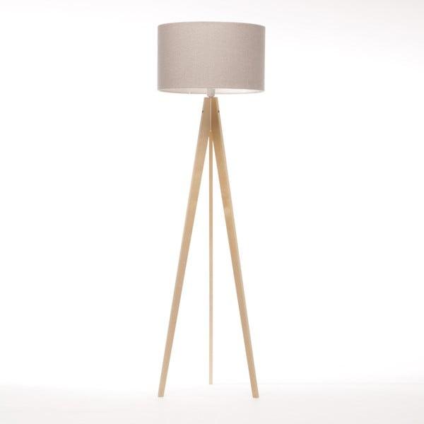 Kremowa lampa stojąca 4room Artist, naturalna brzoza, 150 cm