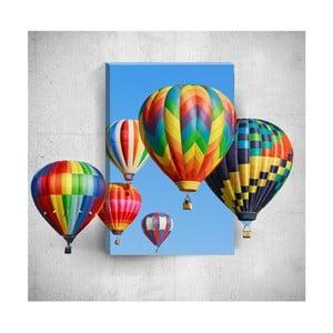 Obraz 3D Mosticx Colourful Air Balloons, 40x60 cm