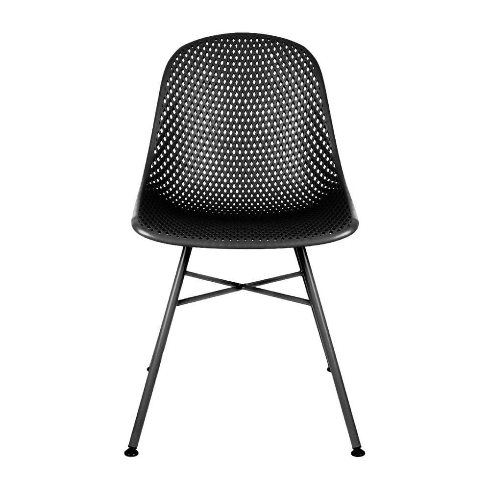 Czarne krzesło Leitmotiv Diamond Mesh