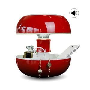 Lampa stołowa, ładowarka i głośnik w jednym Joyo Classic, czerwona