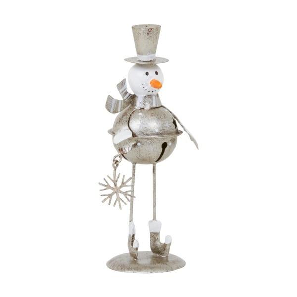 Dekoracja Archipelago Silver Snowman, 13 cm