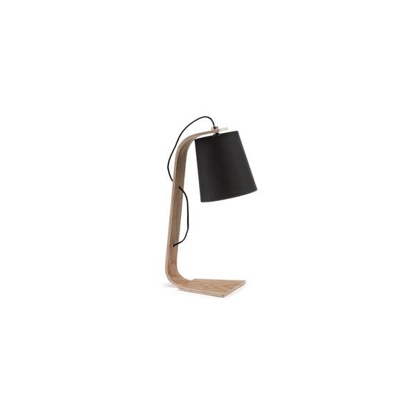 Czarna lampa stołowa La Forma Percy
