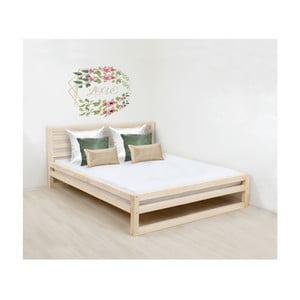 Drewniane łóżko 2-osobowe Benlemi DeLuxe Naturaleza, 200x160 cm