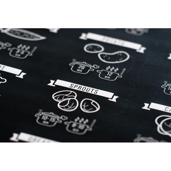 Czarny plakat Follygraph Cooking Times, 30x40cm