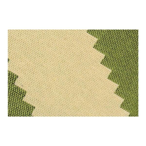 Dywan ZigZag Green Beige, 80x150 cm