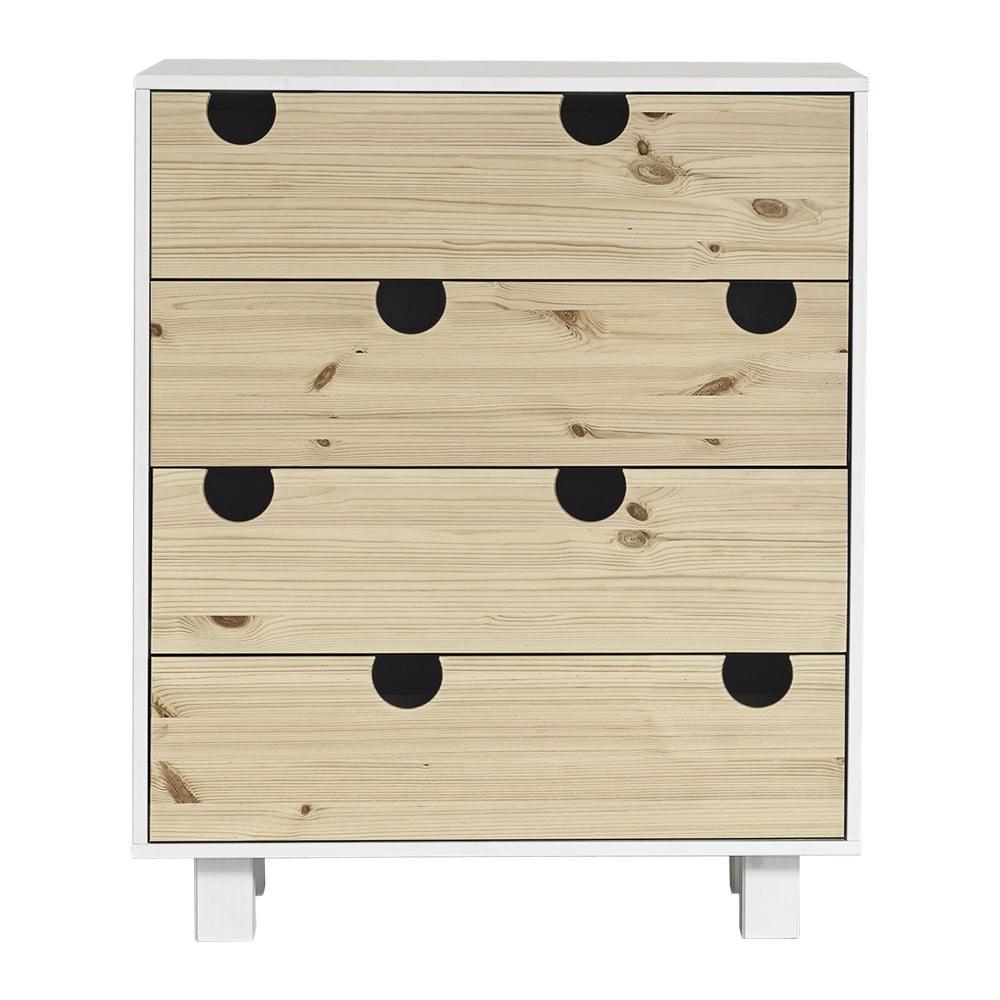 Komoda z 4 szufladami Karup DesignHouse White/Natural