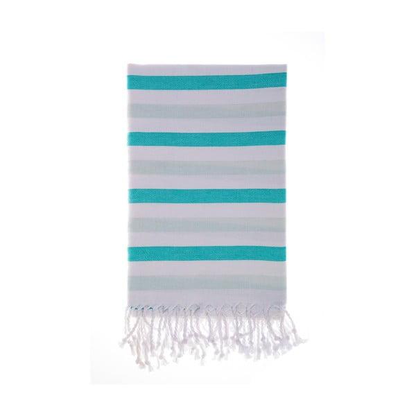 Ręcznik hammam Foca Green, 100x180 cm