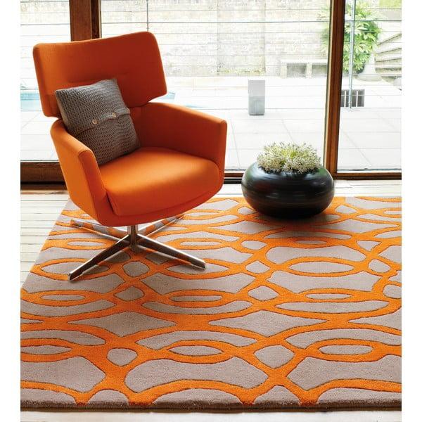 Wełniany dywan Matrix Wire Orange 120x170 cm