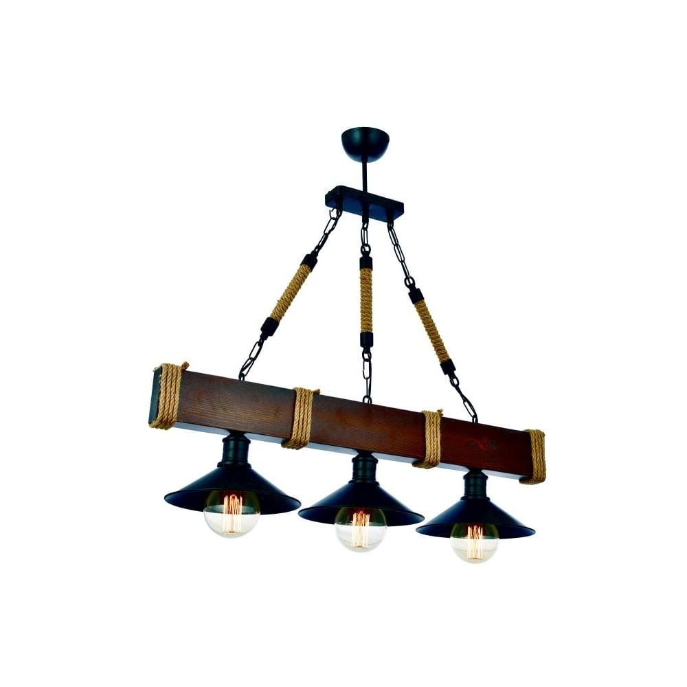 Lampa wisząca z drewna grabu Kütük Ceviz