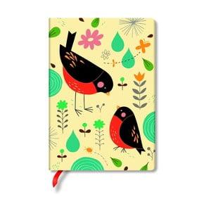 Notes w twardej oprawie Paperblanks Robin, 9,5x18cm