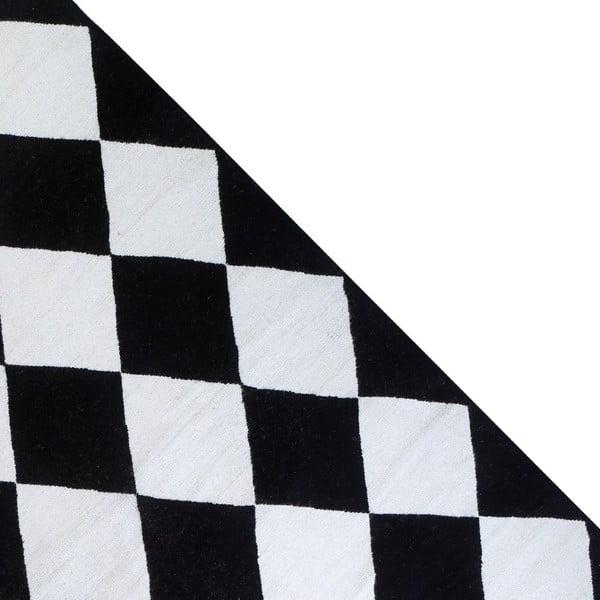 Dywan wełniany Geometry Classic Black & White, 160x230 cm