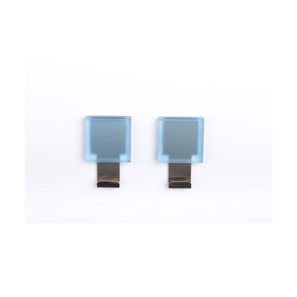 Zestaw 2 samoprzylepnych wieszaków Morbini Light Blue