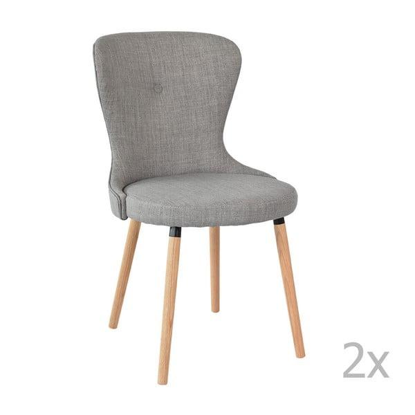 Zestaw 2 szarych krzeseł Ordinary