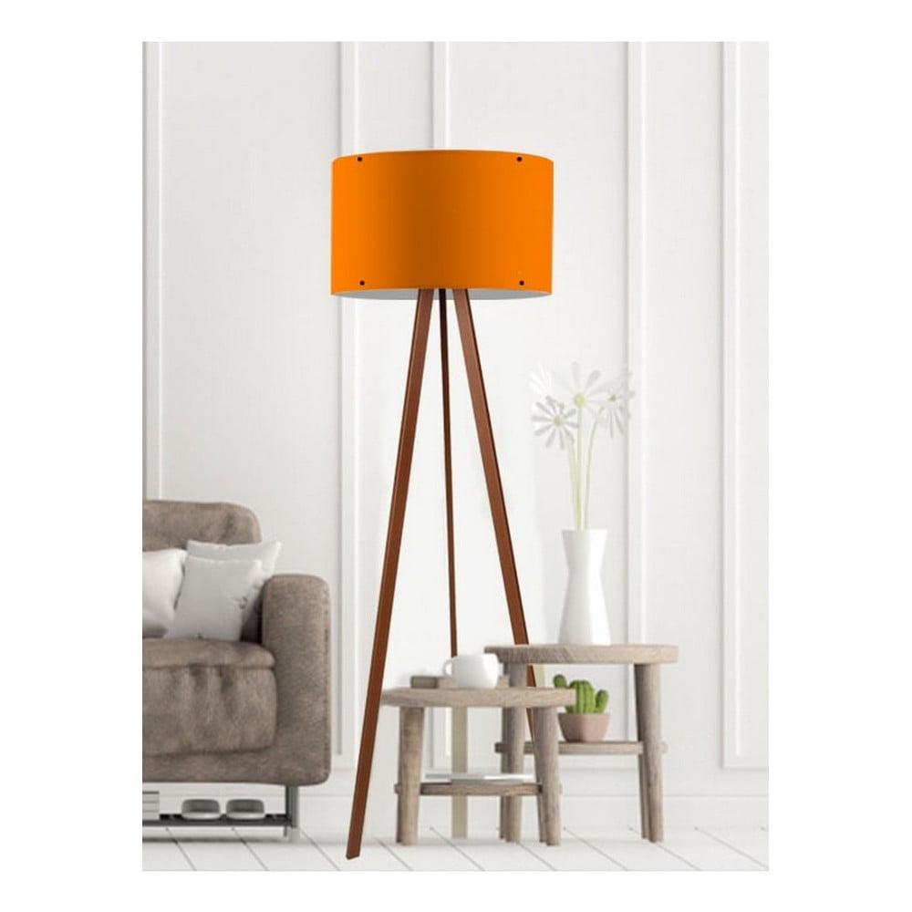 Pomarańczowa lampa stojąca Woddy