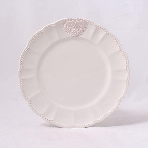 Ceramiczny talerz Dakls Heart, 20,6 cm