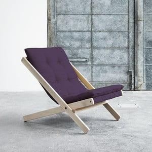 Fotel składany Karup Boogie Raw/Purple