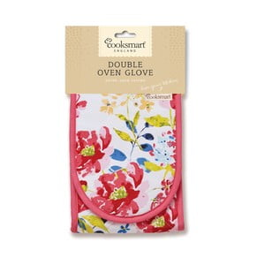 Podwójna rękawica kuchenna Cooksmart England Floral Romance