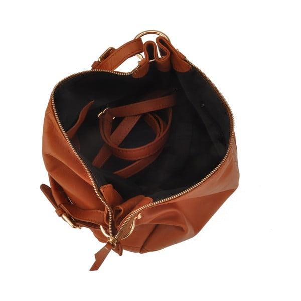 Skórzana torebka Auva, brązowa