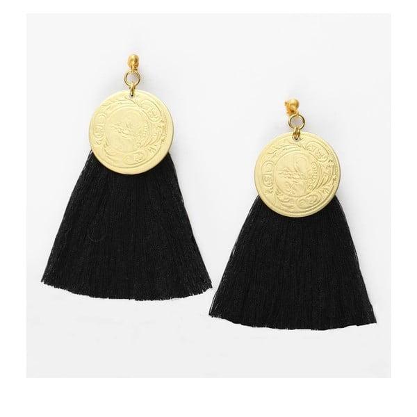 Kolczyki Nairobi Large Gold Black