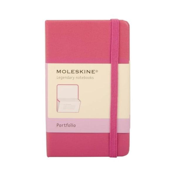 Różowe portfolio Moleskine XS