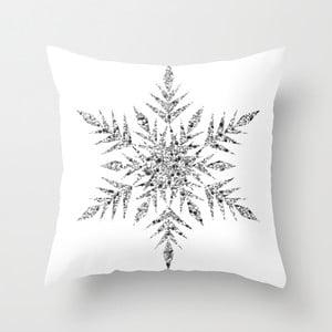 Poszewka na poduszkę Snowflake White, 45x45 cm