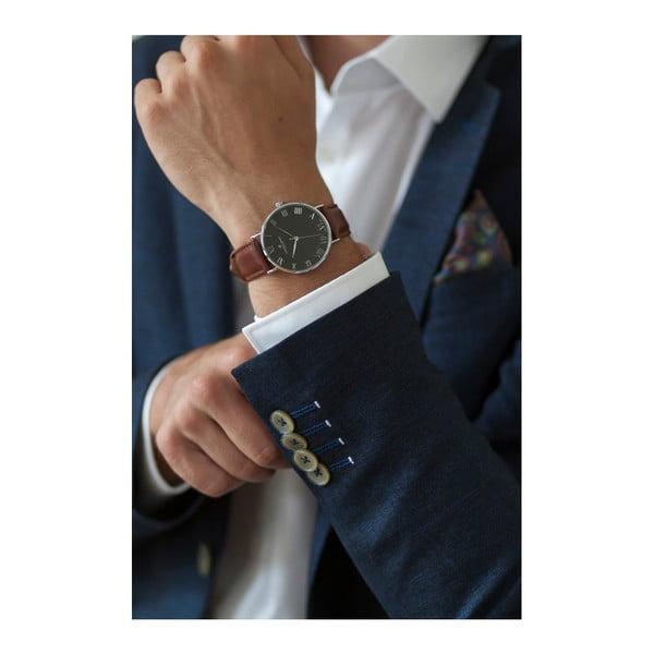 Zegarek męski ze skórzanym paskiem w barwie brązu Frederic Graff Silver Dom Cognac Leather