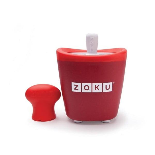 Czerwona maszynka do lodów Zoku Single