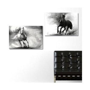 Dwuczęściowy obraz Horses, 40x60 cm