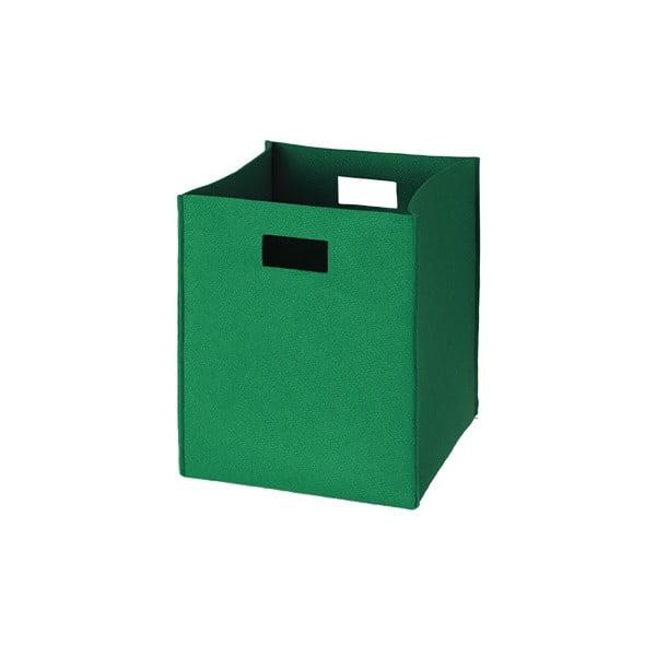 Filcowe pudełko 36x30 cm, zielone