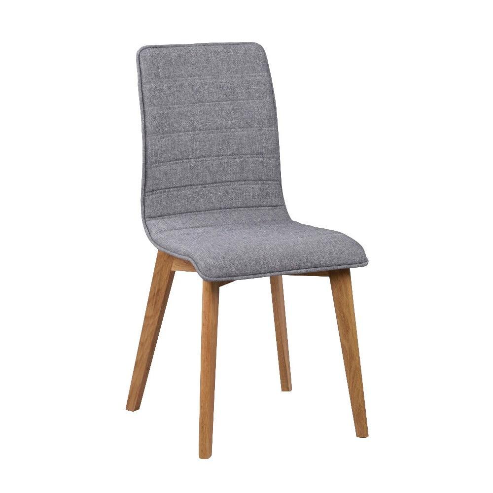 Szare krzesło do jadalni z brązowymi nogami Rowico Grace
