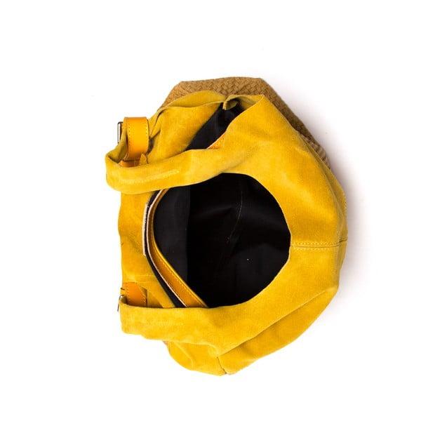 Skórzana torebka Mangotti 875 Giallo