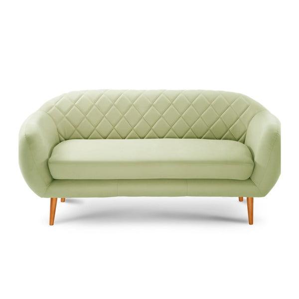 Pistacjowa sofa 3-osobowa Scandi by Stella Cadente Maison Diva