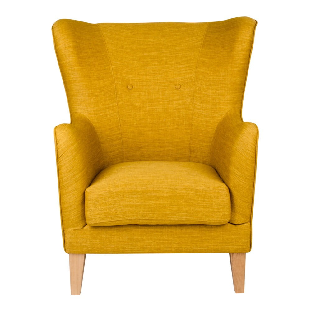 Żółty fotel House Nordic Campo