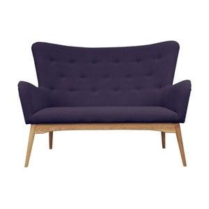 Fioletowa sofa dwuosobowa Helga Interiors Karl