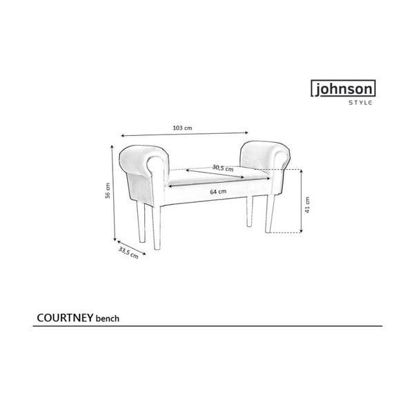 Różowa ławka z detalami w złotym kolorze JohnsonStyle Courtney Mil