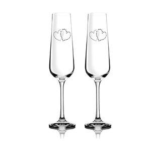 Zestaw 2 kieliszków do szampana Metta ze Swarovski Elements w eleganckim opakowaniu