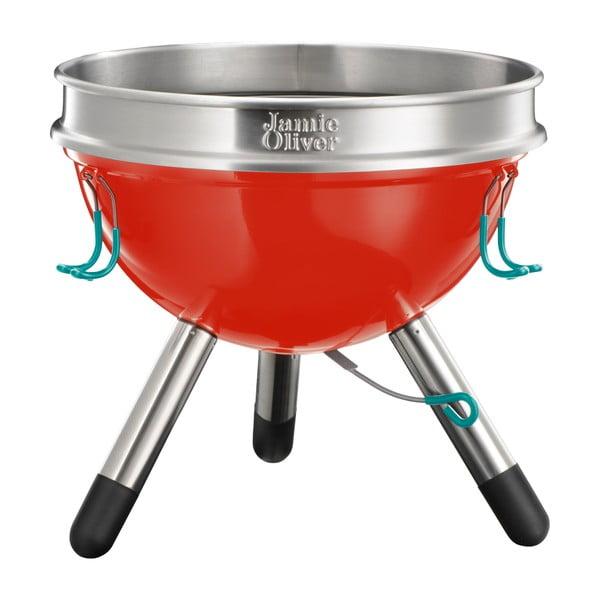 Czerwony grill przenośny Jamie Oliver, mały