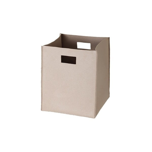 Filcowe pudełko 36x30 cm, beżowe